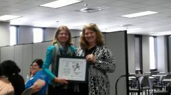 Receiving recognition award for serving as the Alabama HIPPY State Director