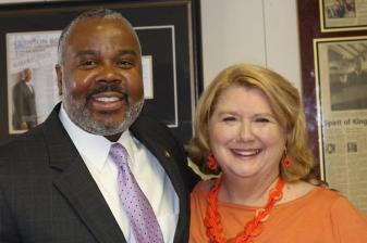 Senator Quinton Ross with Joanne Shum
