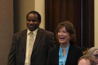 Superintendent John Heard and Judy Graham
