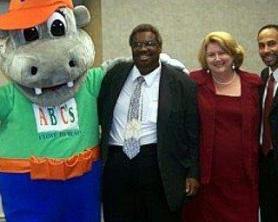 With Senator Hank Sanders, Dr. Daniel Boyd, and Hippy P. Potamus