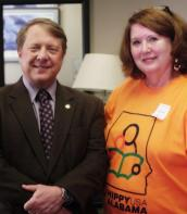 Visiting Senator Dick Brewbaker at the Alabama State House