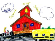 A little girl, Savana Stricklin, gave me this drawing of a little red school house